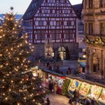 A view on the Christmas Market of Rothenburg ob der Tauber