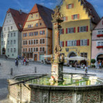 Fountain at Market Square in Rothenburg ob der Tauber