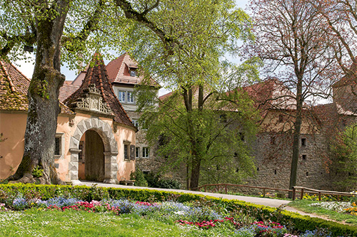 Castle Garden in Rothenburg ob der Tauber