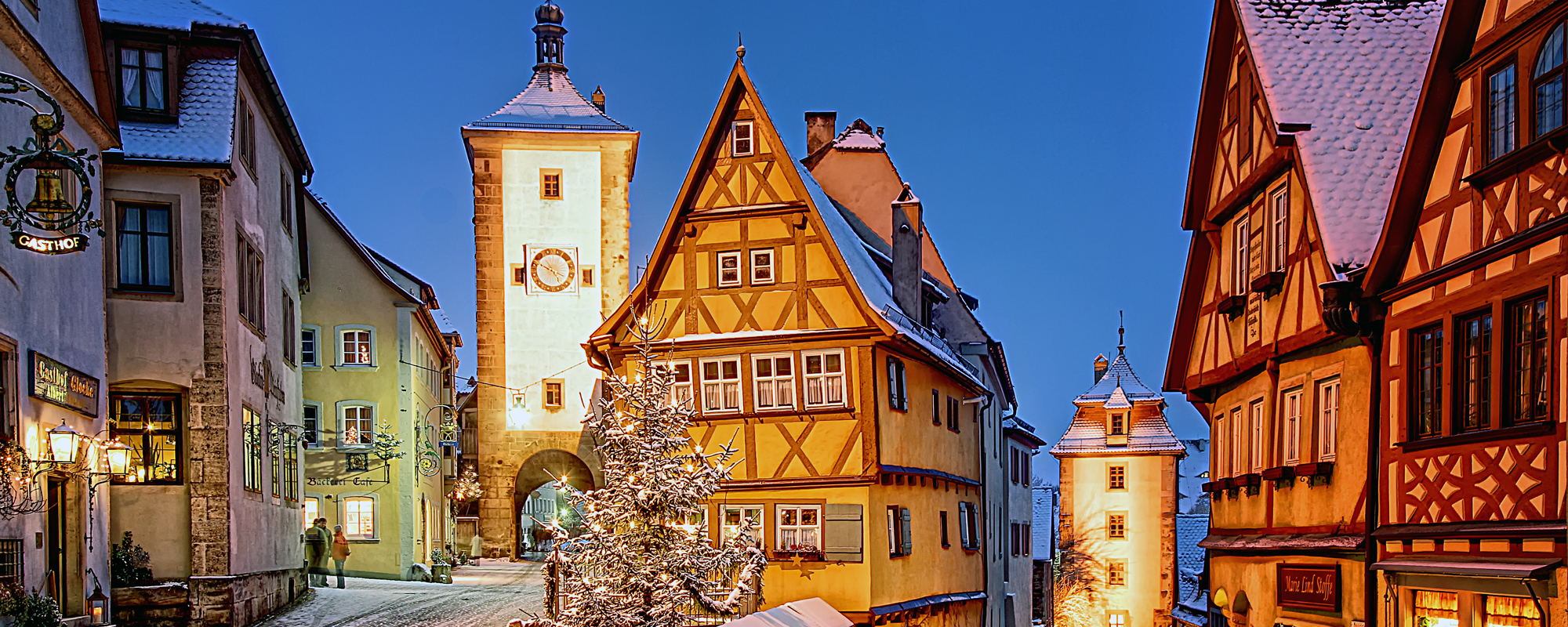Plönlein in Rothenburg ob der Tauber in winter