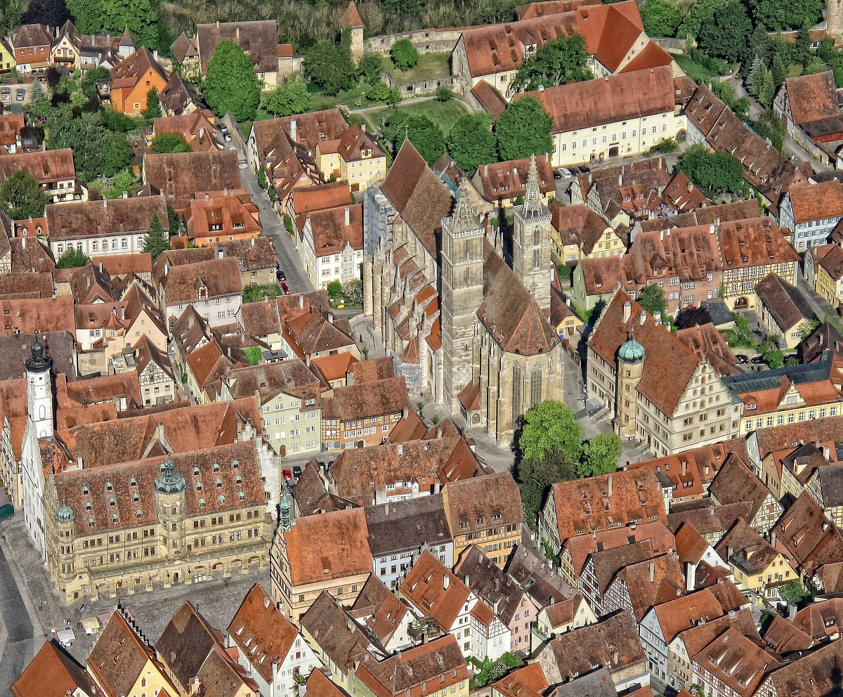 View on Rothenburg's old quarter