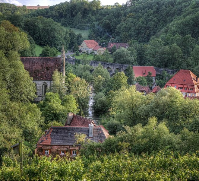 View on the Tauber Valley from Rothenburg ob der Tauber