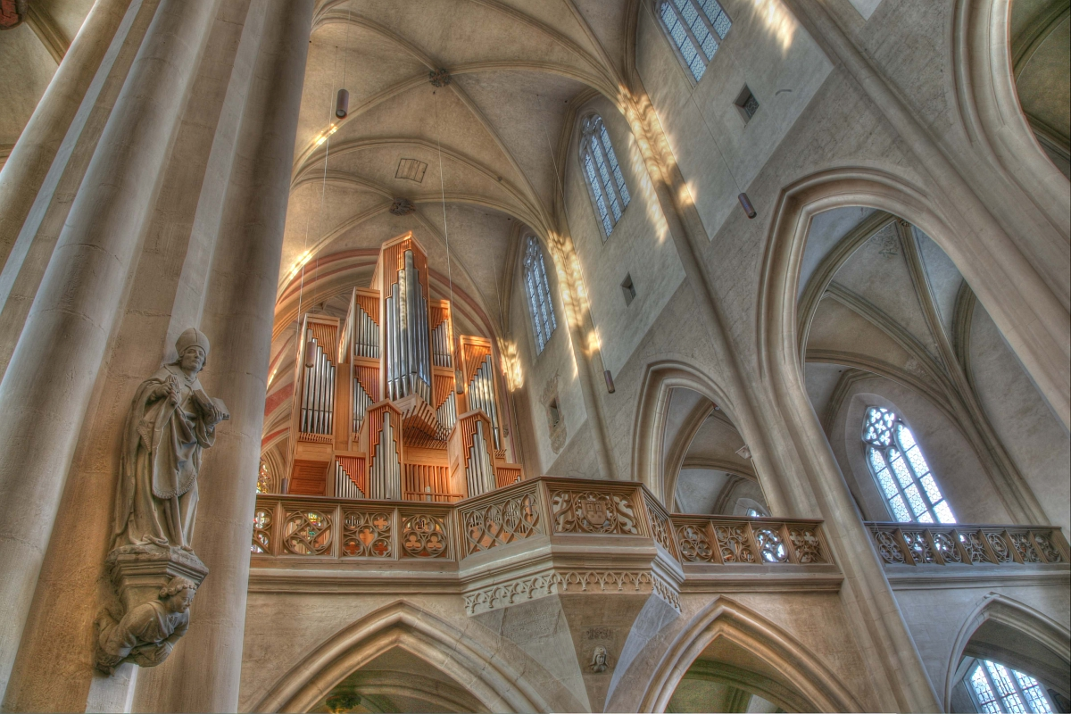 Organ in St. James Church of Rothenburg ob der Tauber