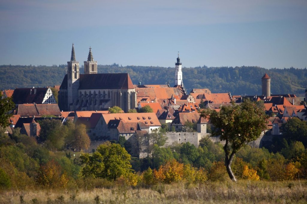 Panoramic view on Rothenburg ob der Tauber