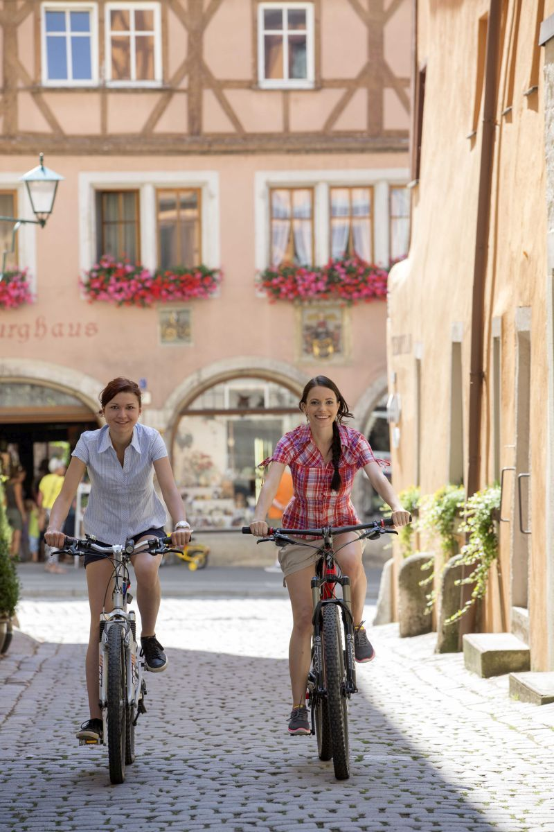 Cycling in Rothenburg ob der Tauber
