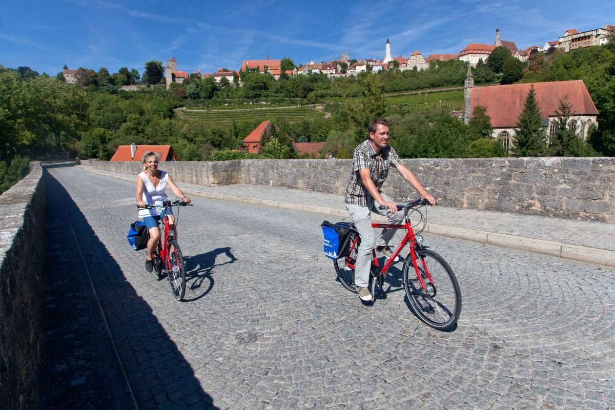 Cycling near Rothenburg ob der Tauber