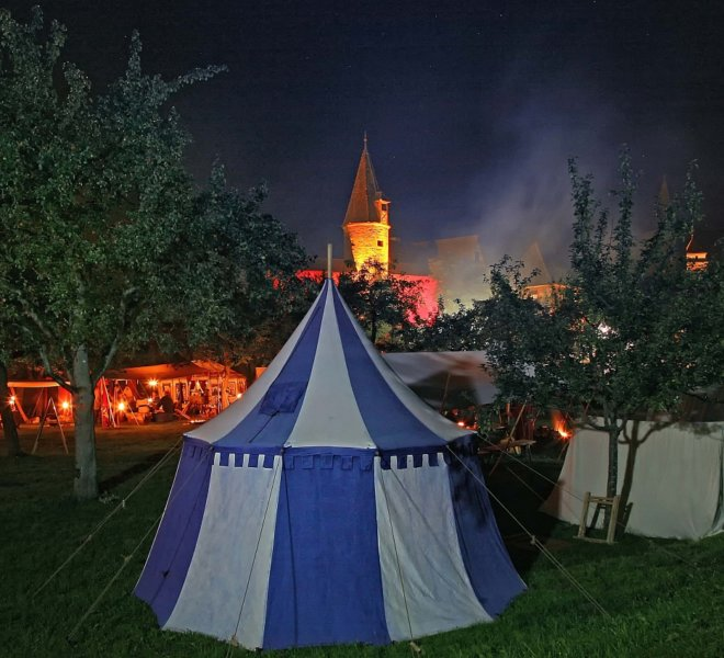 Historical encampment during the Imperial City Days in Rothenburg ob der Tauber