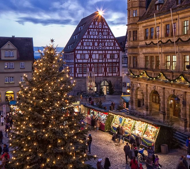 Market Square during Christmas Market of Rothenburg ob der Tauber