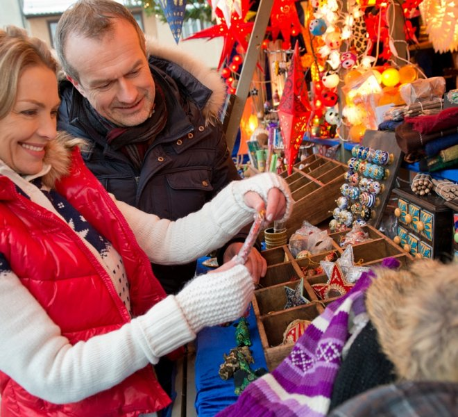 Shopping at Rothenburg's Christmas Market