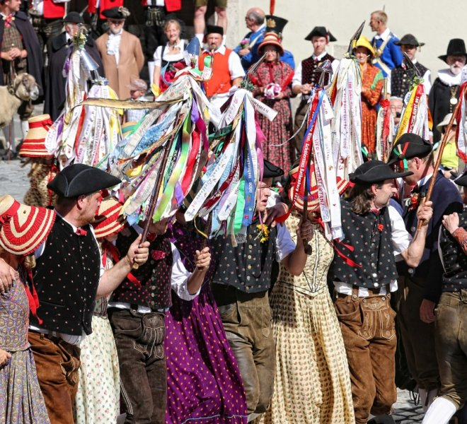 Shepherd's Dance in Rothenburg ob der Tauber: Historical group