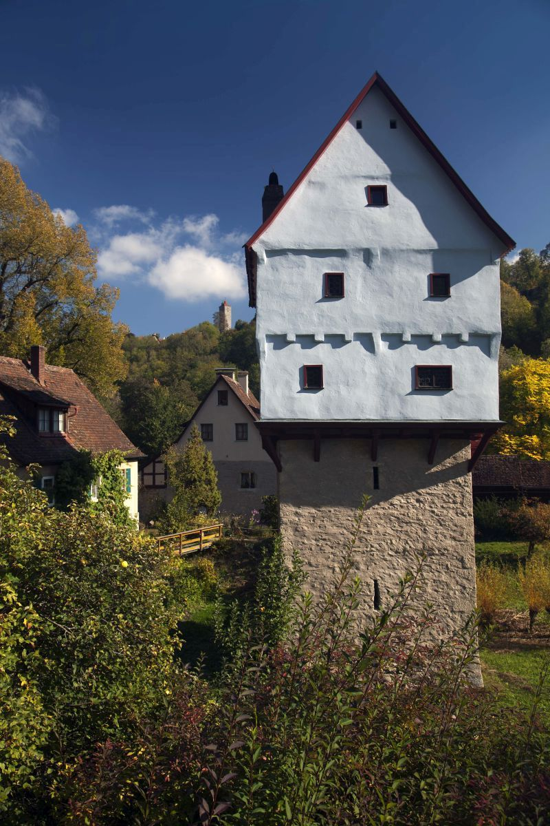 Toppler Castle in the Tauber Valley of Rothenburg ob der Tauber