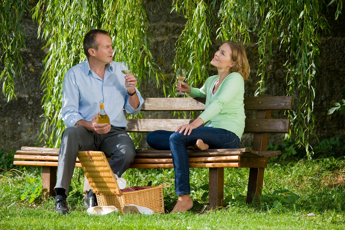 Romantic picnic at Rothenburg ob der Tauber
