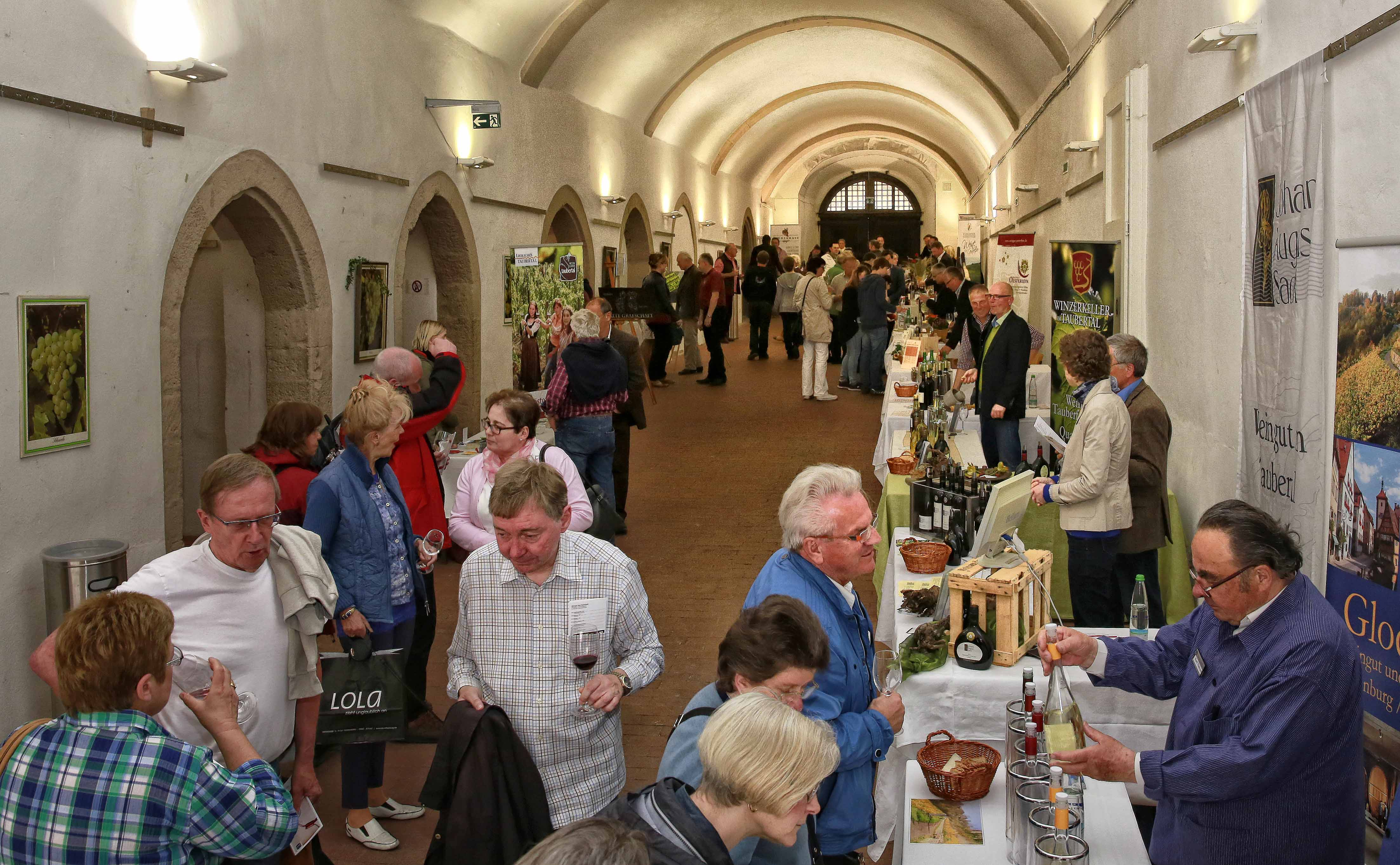 Convention at the vault of the city hall in Rothenburg ob der Tauber