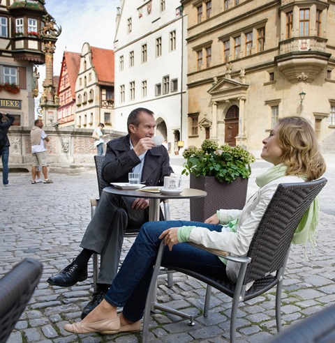 Relaxing at Rothenburg Market Square