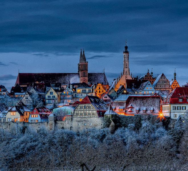 Märchenhafte Stadtsilhouette