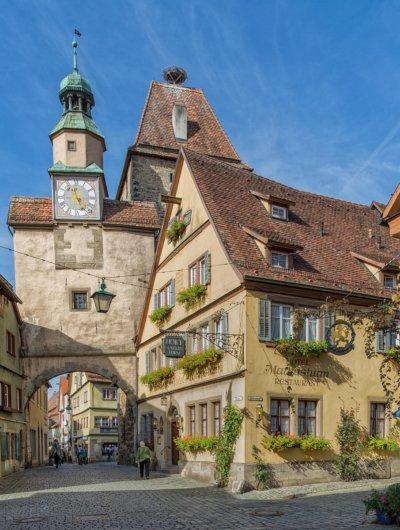 Der Markusturm aus dem 13. Jahrhundert gehörte zur ersten Stadtbefestigung