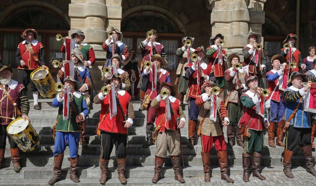 """Trompeter des Historischen Festspiels """"Der Meistertrunk"""""""