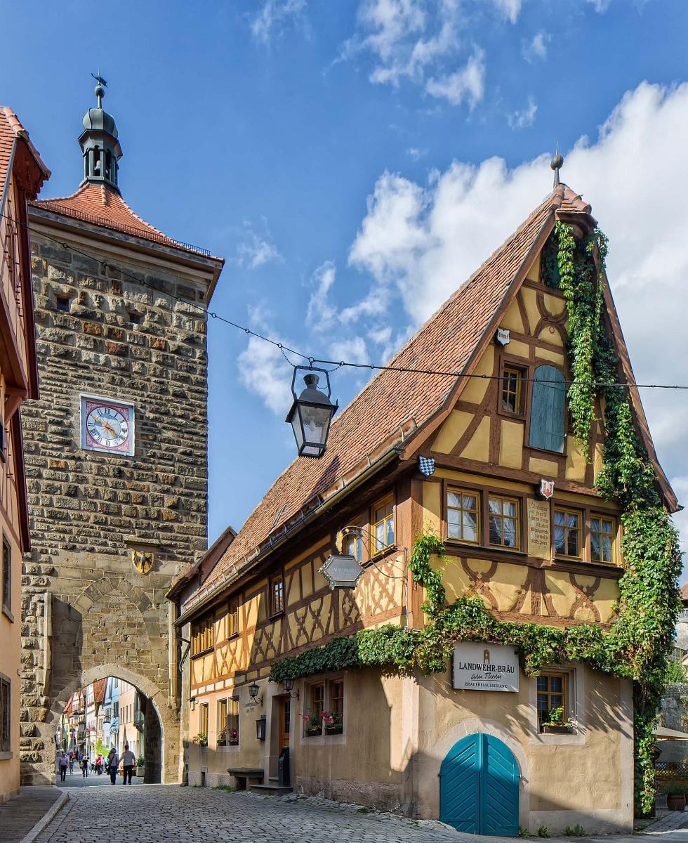 Der Siebersturm in Rothenburg ob der Tauber