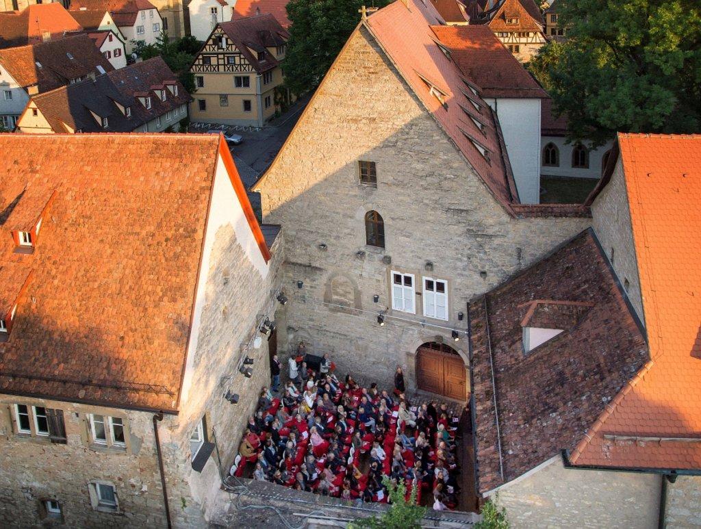 Toppler Theater im einstigen Dominikanerinnenkloster von Rothenburg