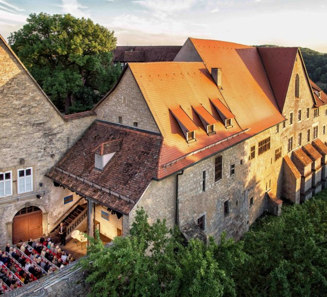 Im Toppler Theater von Rothenburg ob der Tauber
