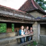Unterwegs auf dem Rothenburger Turmweg: Auf der Stadtmauer
