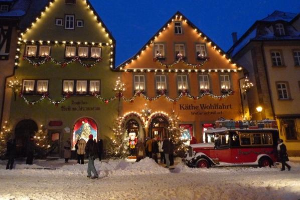 Käthe Wohlfahrt - Eingang zum Weihnachtsmuseum und Weihnachtsdorf
