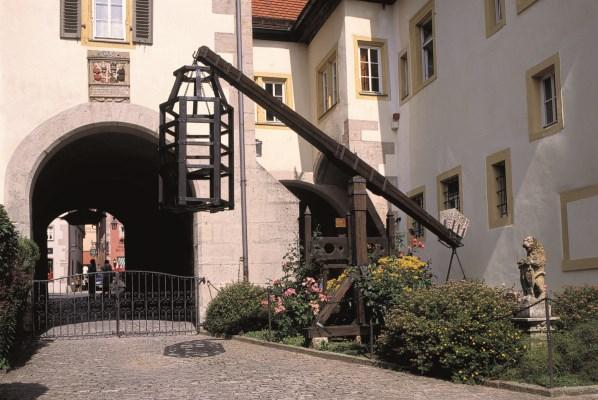 Der Eingangsbereich im Mittelalterlichen Kriminalmuseum von Rothenburg ob der Tauber