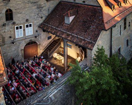 Ein Jahreshöhepunkt in Rothenburg ob der Tauber: das Toppler Theater