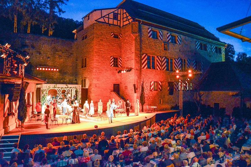 Die Festspielbühne in Röttingen