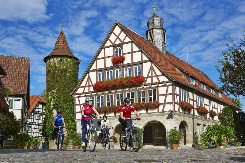 Taubertalradweg Taubertal Niederstetten Radfahren