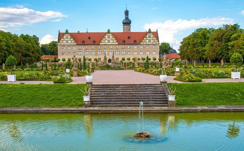 Schloss in Weikersheim Taubertal Liebliches