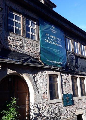 Judengasse 10 Rothenburg ob der Tauber Judentum Kulturerbe Bayern Franken Restaurierung Mikwe