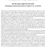 Rothenburg ob der Tauber Jüdische Kulturwoche Le Chajim