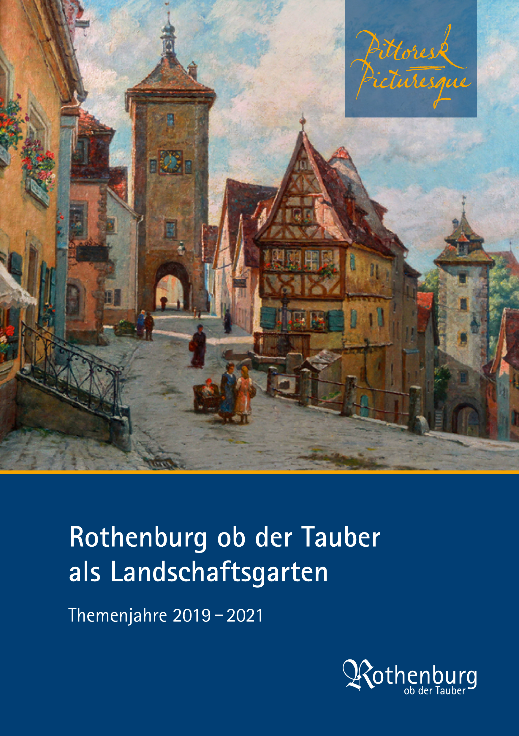 Flyer Pittoresk: Rothenburg als Landschaftsgarten Themenjahre