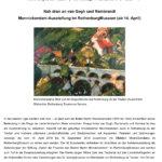 Titel PM Nah dran an van Gogh und Rembrandt - Monnickendam Ausstellung im RothenburgMuseum (14.4.2019 bis 15.9)