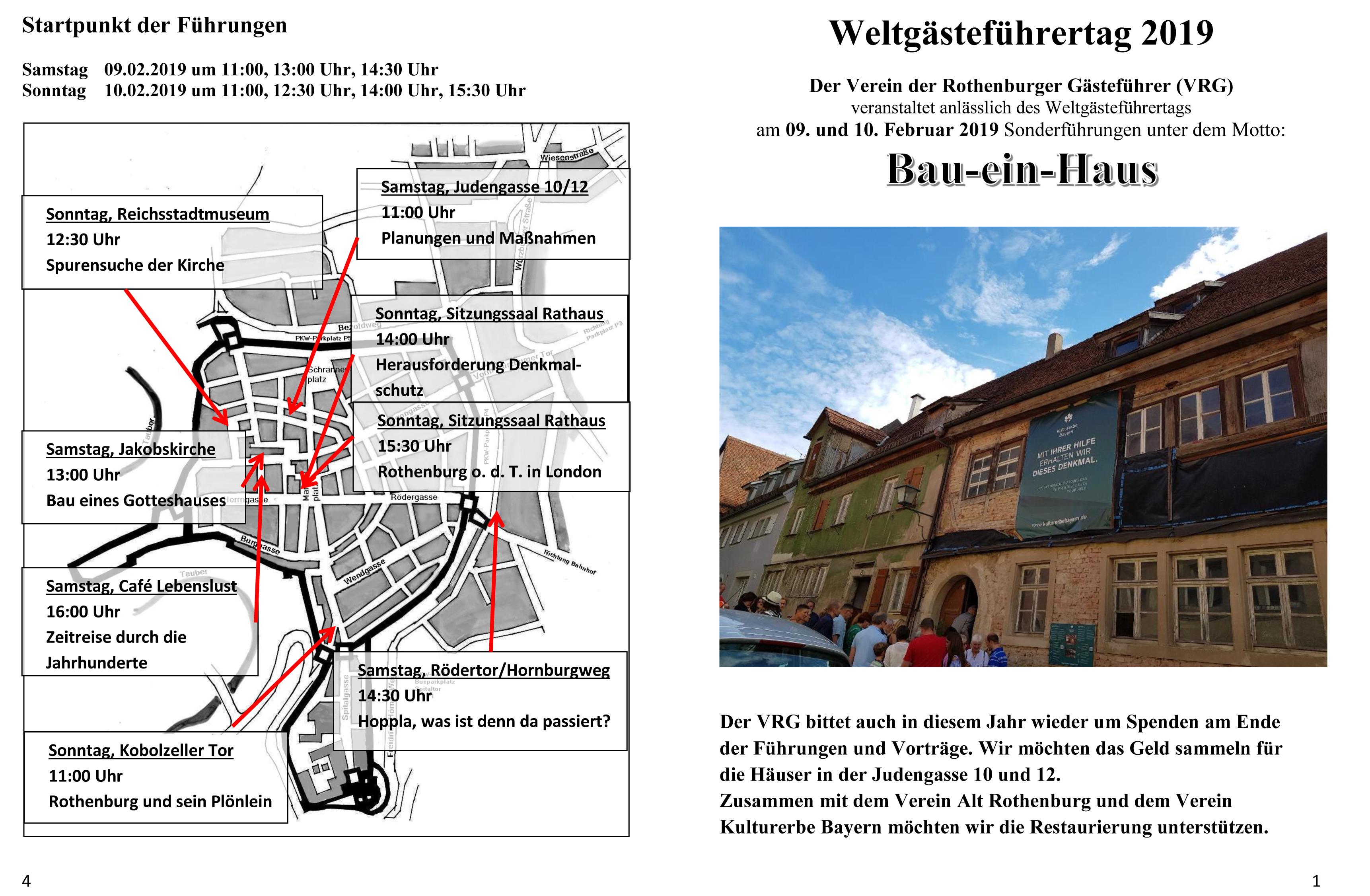 Titelblatt Rothenburg ob der Tauber Weltgästeführertag 2019
