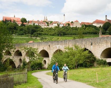 Radfahren um Rothenburg ob der Tauber