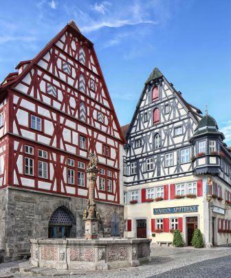 Fleisch- und Tanzhaus in Rothenburg - Marktplatz - Pfitzinger