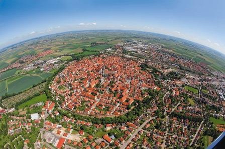 Rothenburg Romantische Straße - Luftbild Nördlingen - Romantische Straße