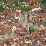 Luftbild Rothenburg ob der Tauber - Altstadt - Pfitzinger