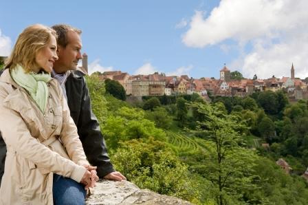 Blick vom Burggarten in Rothenburg - Respondek