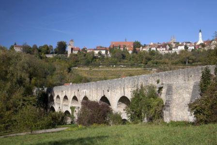 Doppelbrücke Taubertal bei Rothenburg - Bichler
