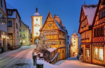 Rothenburg - Plönlein im Winter - Pfitzinger