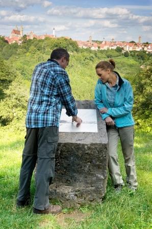 Wandern um Rothenburg - Aussicht an der Engelsburg - Respondek