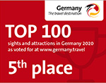 DZT - Platz 5 der Sehenswürdigkeiten in Deutschland